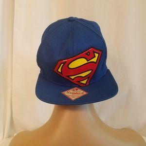 Superman Blue DC Comics Snapback Hat Bioworld Merc